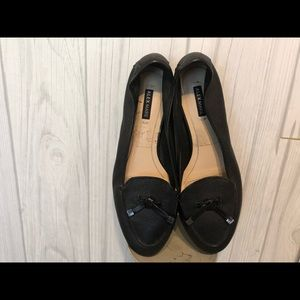 Alex Marie Black Leather Loafers 5.5
